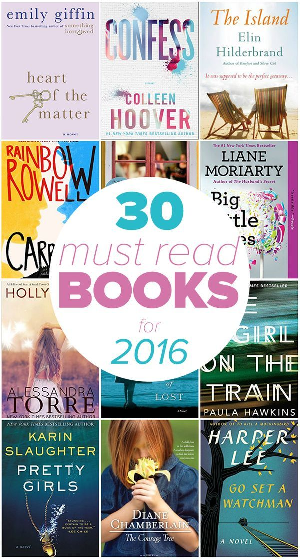 30 Must-Read Books for 2016 - Looking for some awesome books to enjoy this year? Check out our list of 30 books you should read in 2016 to find your next book!  Pinned 47K times!
