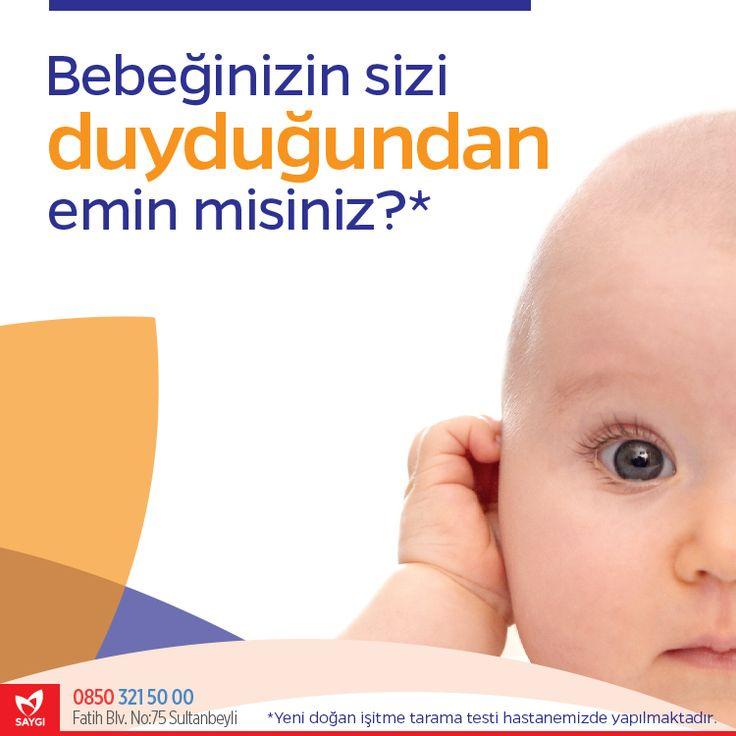 Bebeğinize yeni doğan işitme tarama testi yaptırmayı unutmayın!