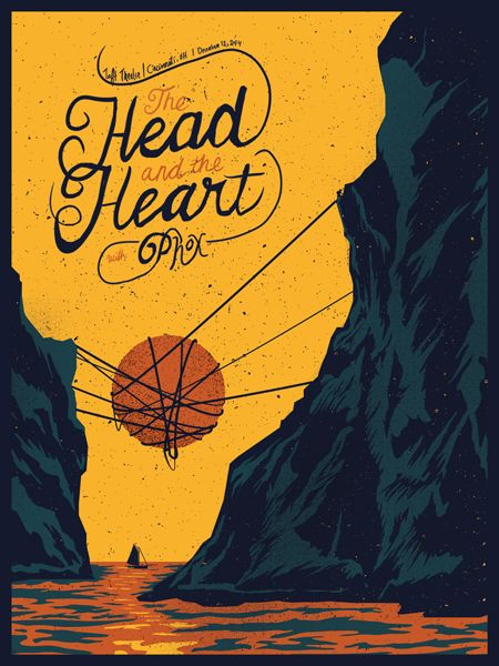 The Head and The Heart / Phox gig poster by Catharsis