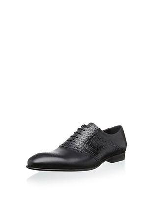 50% OFF Dino Bigioni Men's Sporty Saddle Dress Shoe (Black)