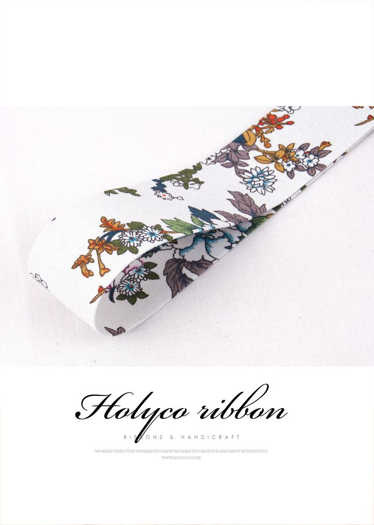 Jardin Flower Folding Fabric Ribbon / 2''(50mm) / made in korea by HOLYCO on Etsy