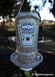Chances are you'll have a bottle of tomato ketchup in the cupboard or fridge. Many of the bottles are now the plastic squeezy type. Rather than simply popping the empty bottle in the recycling bin next time you finish a bottle why not have a go