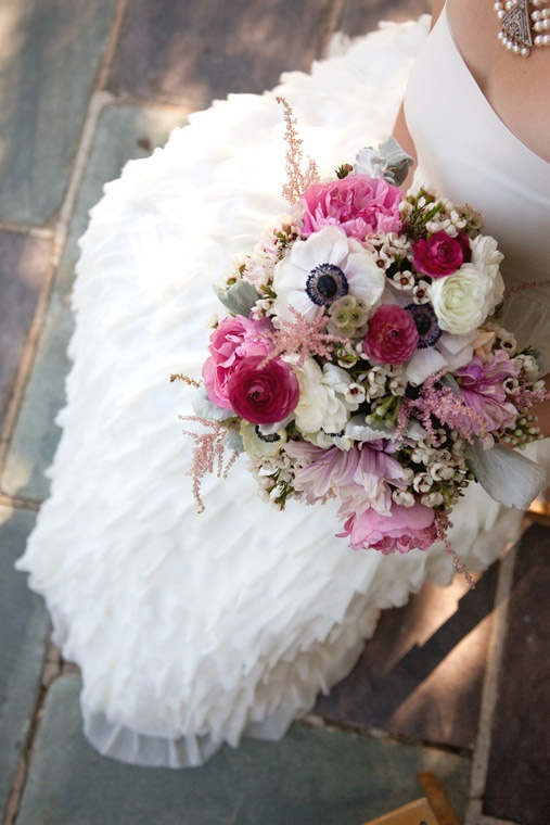 anemone and ranunculus bouquet