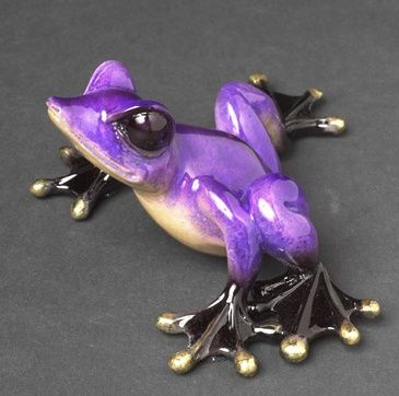 Glass frog-and I don't like frogs, but this one is purple and it is not real...lol