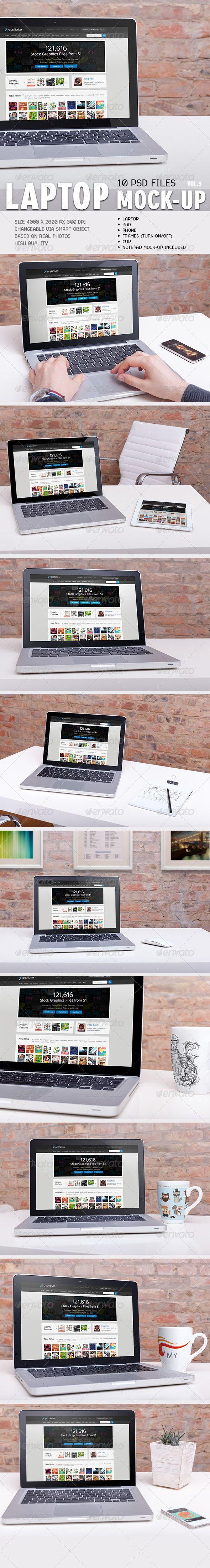 GraphicRiver - 10 Laptop Mock-ups Vol.3