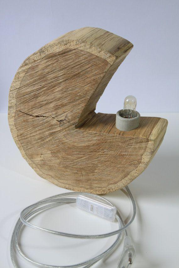 """Handmade wooden lamp """"Pac Man"""""""