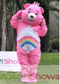 Deguisement Bisounours rose Gailourson mascotte costume pas cher adultes contact: service@mascotshows.fr