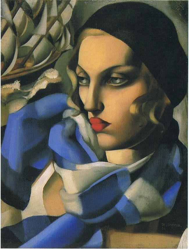 l'écharpe bleue 1930 - TAMARA DE LEMPICKA