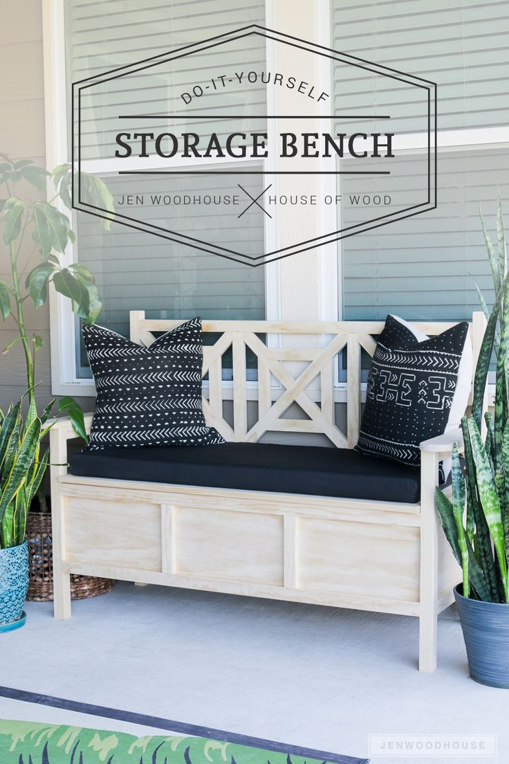 Window seat storage camps pinterest - How To Build A Diy Outdoor Storage Bench