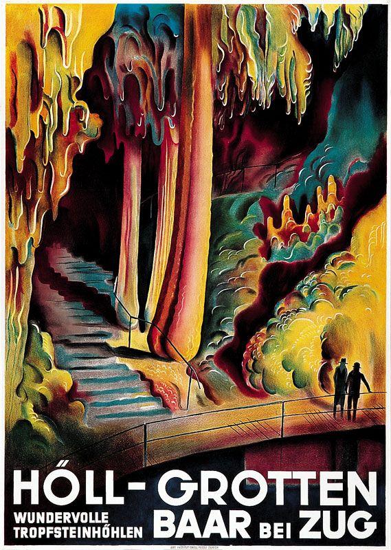 SWITZERLAND - Holl-Grotten Baar bei Zug - Zug Otto Baumberger. Vintage Travel