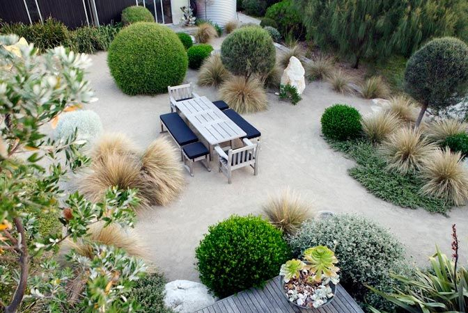 Designer Fiona Brockhoff's exceptional modern garden in coastal bushland displays great flair and an imaginative use of seaside plants.