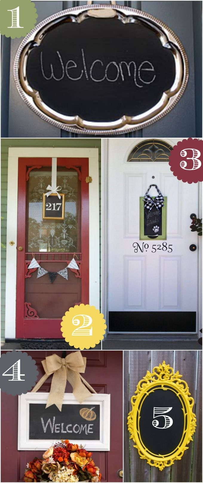 36 Creative Front Door Decor Ideas {not a wreath} - Home Stories A to Z