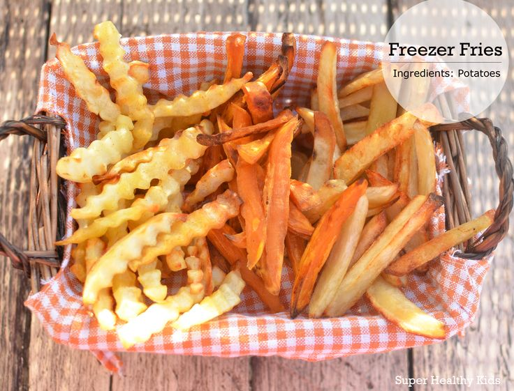 Freezer Fries!  Much cheaper and healthier than store bought freezer fries!  #healthyshortcuts #frenchfries #healthykids