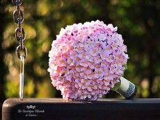Bouquet sposa rosa con ortensie