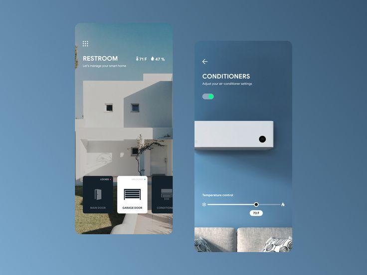 Smart Home App Concept Smart Home Smart App Home