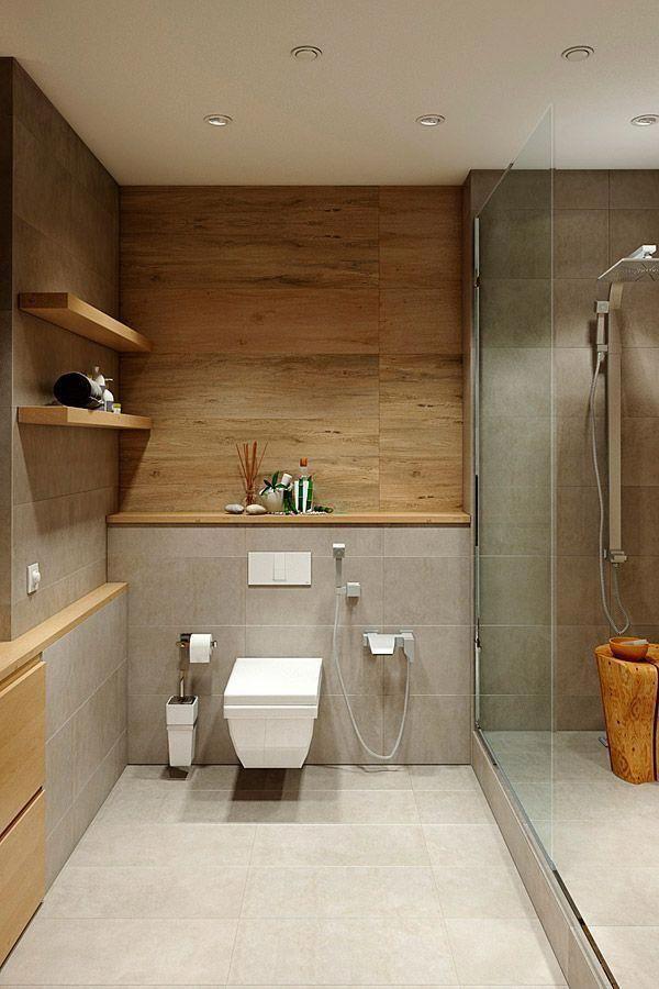 #bathroom #ideas #wc #wood #stone #grey Ilona Woj # bathroom