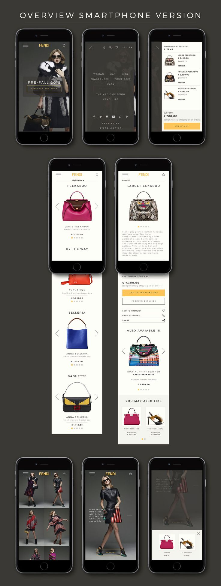 Fendi eCommerce Design on Behance