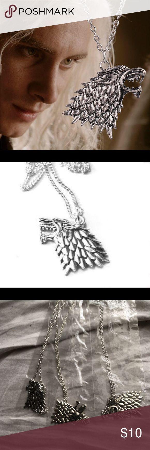 Game Of Thrones Stark Direwolf Necklace ✨NWT Silver Plated Stark Direwolf Necklace Jewelry Necklaces