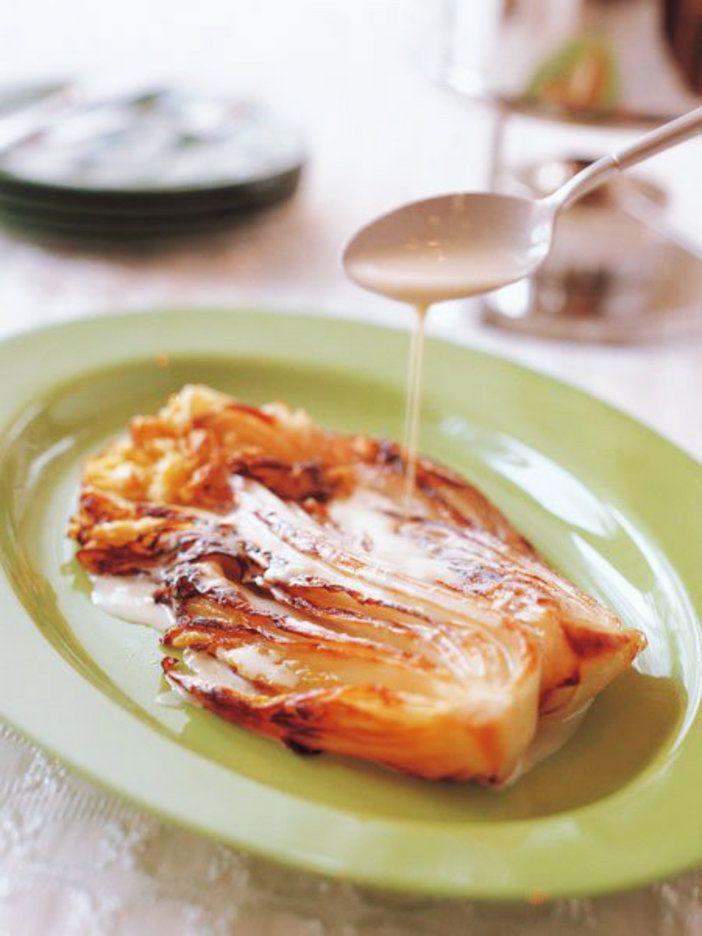 【ELLE a table】白菜のロースト、チーズフォンデュがけレシピ|エル・オンライン