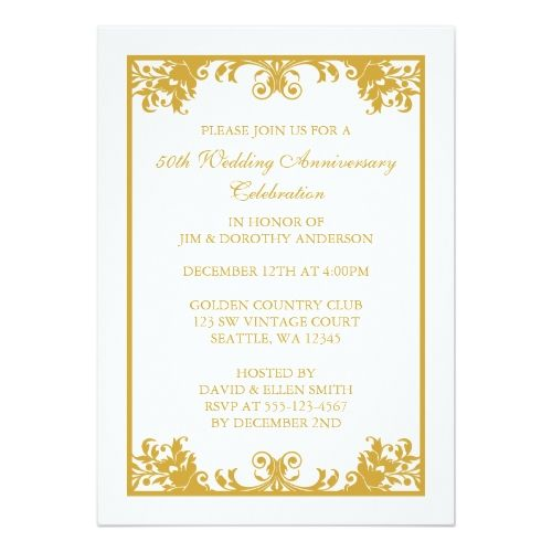 Best Th Anniversary Invitations Images On   Th