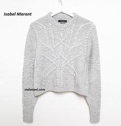 Пуловер Denver от Isabel Marant- СХЕМЫ http://mslanavi.com/2016/09/vyazanyj-pulover-spicami-ot-isabel-marant/
