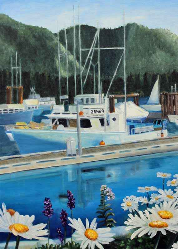 Painting,Oil Painting,Landscape Painting,Gift Ideas,Tofino,British Columbia,Art,Original Art,Boat,Prints,Art Prints,Giclee,Wall Art by Lytlebitartisitic on Etsy
