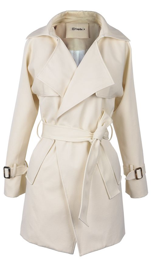 10% off for pre-order! Get this lapel coat with $33.99 Only+easy return+free shipping! This sash coat detailed with front&side pockets will offer you a chic look! Go find it at Cupshe.com