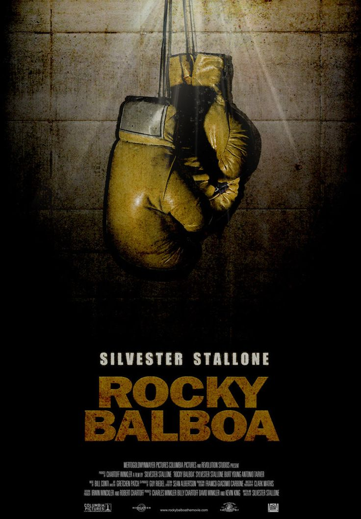 Final Poster. Rocky Balboa ver 2.0. 2006. Stallone. final film on the most famous boxer in the history of cinema. The poster tries to express the end of a myth, its decline as a boxer, boxing glove...