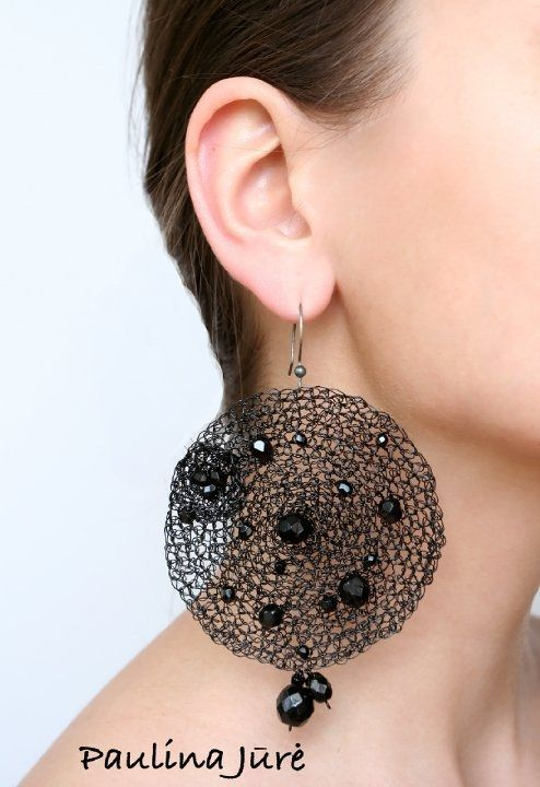 wire crochet earings  More wire crochet earrings at my shop http://www.yooladesign.com/collections/wire-crochet-jewelry