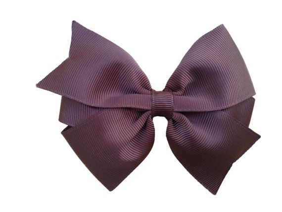 4 inch brown hair bow  brown bow classic bow toddler bow