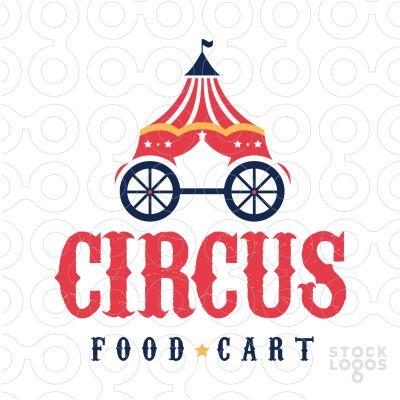 Circus show Food Cart #Logo