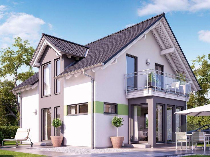 solution 125 v4 von living haus by bien zenker satteldach exterior house pinterest. Black Bedroom Furniture Sets. Home Design Ideas
