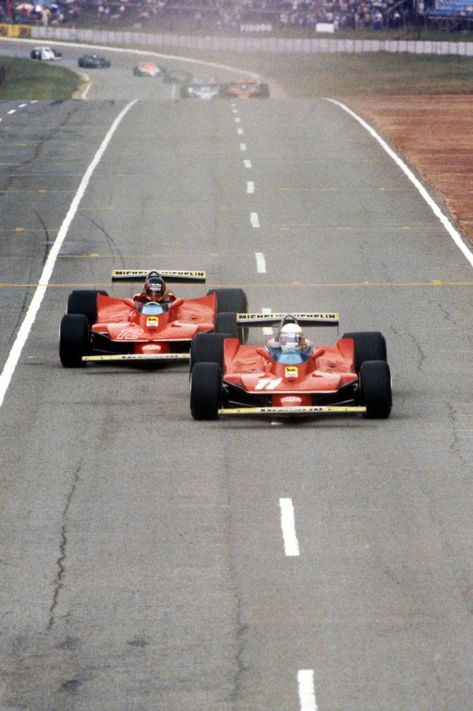 Gilles Villeneuve  Jody Scheckter - Ferrari 312T4 - 1979 South African Grand Prix