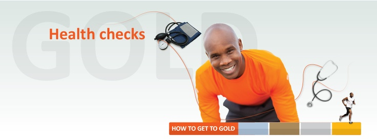 Second step to a healthier lifestyle. Do your health checks. #Gettogold