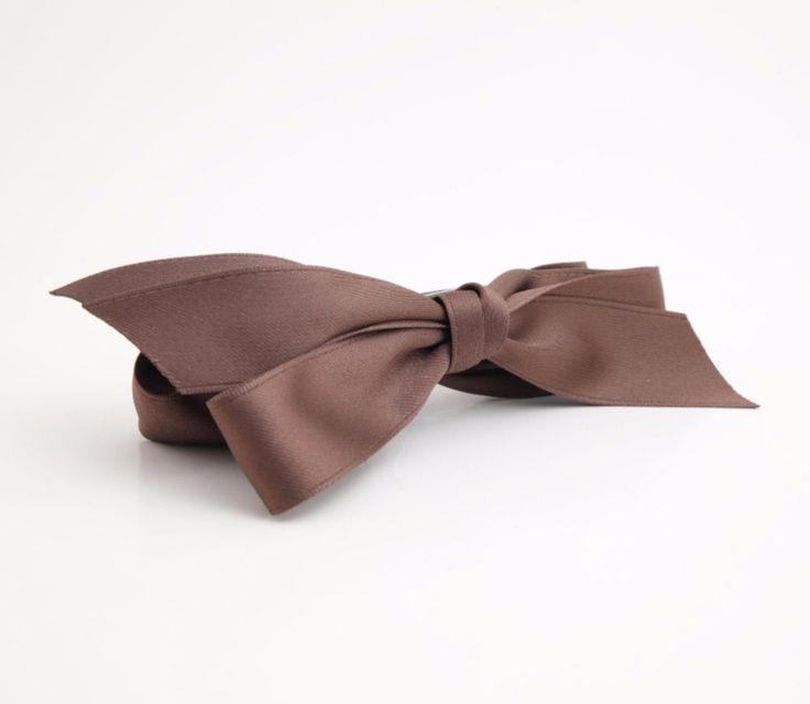 Handmade Glossy Satin Twin Bow Knot Banana Hair Clip #VeryShine #Clips #Casual