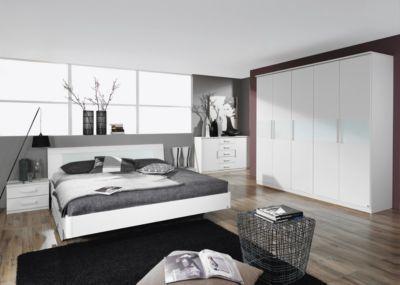 schlafzimmer mit bett 180 x 200 cm alpinweiss glas weiss jetzt bestellen unter httpsmoebelladendirektdeschlafzimmerkomplett schlafzimmeruid - Glamouros Schlafzimmer Komplettangebote Begriff