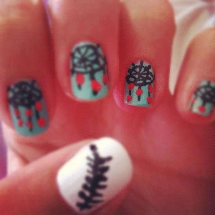 dreamcatcher nail art !