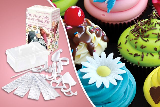 100-Piece Cake Decorating Kit