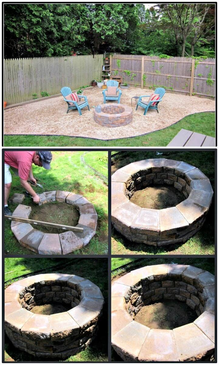 How To Building A Fire Pit Tutorial 62 Fire Pit Ideas To Diy Cheap Fire Pit For Your Garden Diy Crafts Cheap Fire Pit Outdoor Decor Backyard Fire Pit Backyard diy on a budget