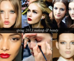 Makeup trends: tutorials for spring 2013  Check out the blues, pinks.  Want an edgier look?  Try Kohl eyeliner.