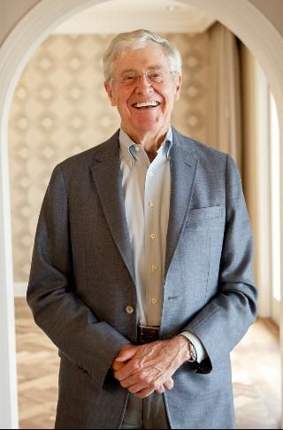 #7 Charles Koch 2016 Forbes 400 Net Worth $42 Billion CEO, Koch Industries Age 81