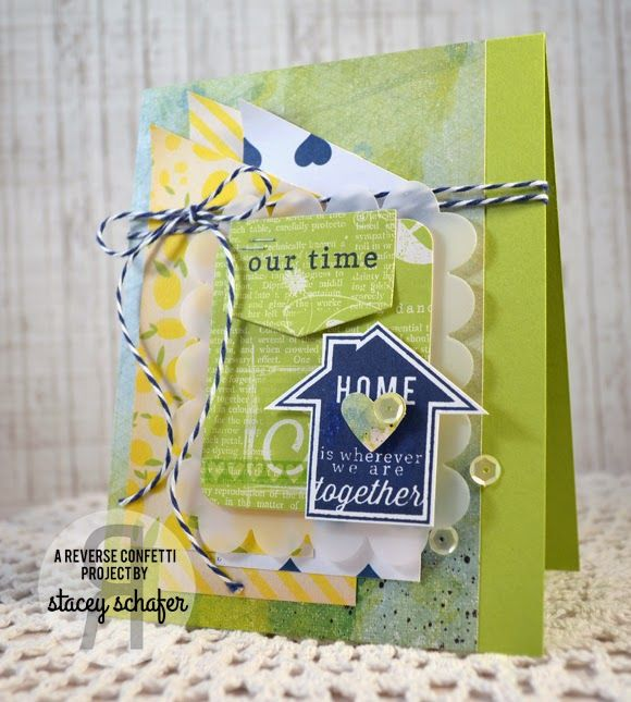 Stacey's Stamping Stage: Reverse Confetti March Color Challenge - Our Time