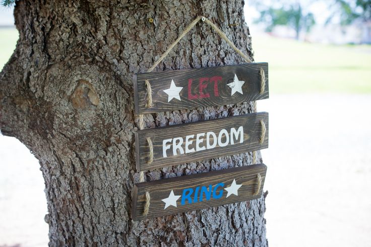 Patriotic Sign, Red White and Blue, Stars, Fourth of July Decor, Patriotic decor, Let Freedom Ring, Patriotism, Patriotic Slogan by CoreDesignsBoutique on Etsy