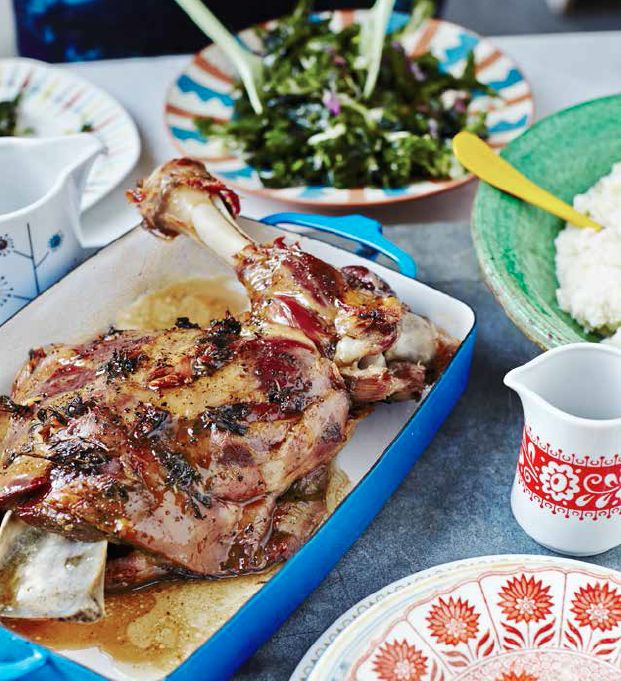 Slow Roasted Lamb with Anchovies
