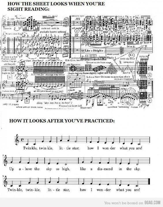 Sight reading reality-  YASS so true!: