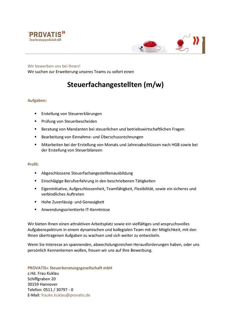 Steuerfachangestellter(m/w) - Hannover  mehr unter www.kanzlei-job.de