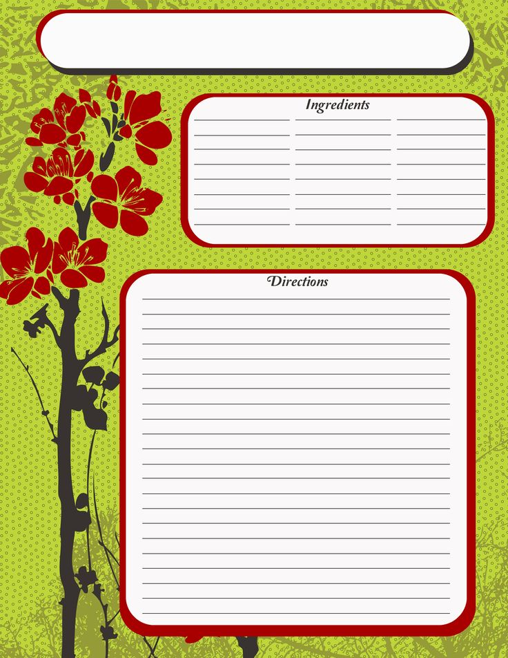 Free Recipe Card Templates For Word Fascinating 255 Best Creating A Recipe Book Images On Pinterest  Recipe Books .