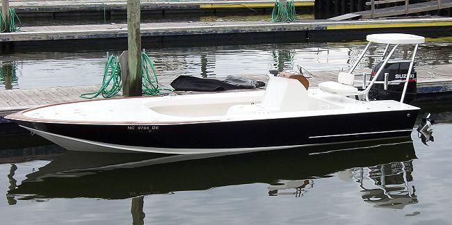 18 1/2' Flats Flyer  Florida flats boat  www.boatdesigns.com