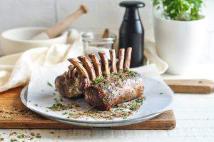 roast rack lamb lemon garlic