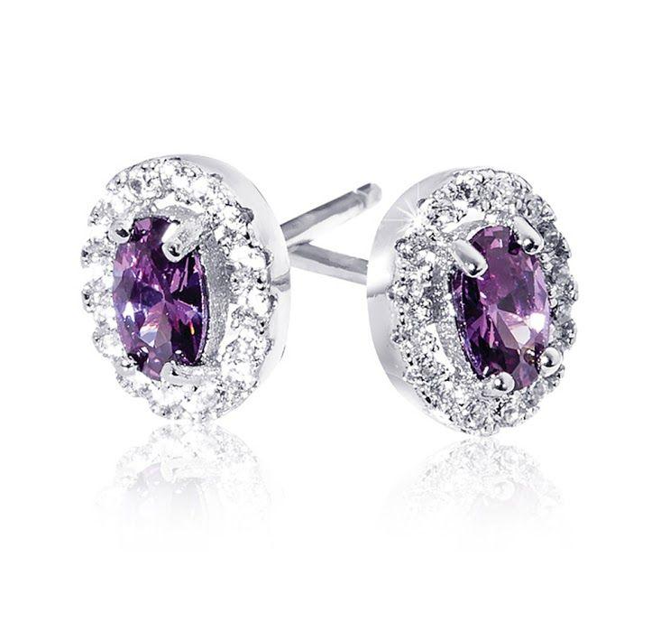 Silver Cubic Zirconia Gemstone Earrings R399  *Prices Valid Until 25 Dec 2013